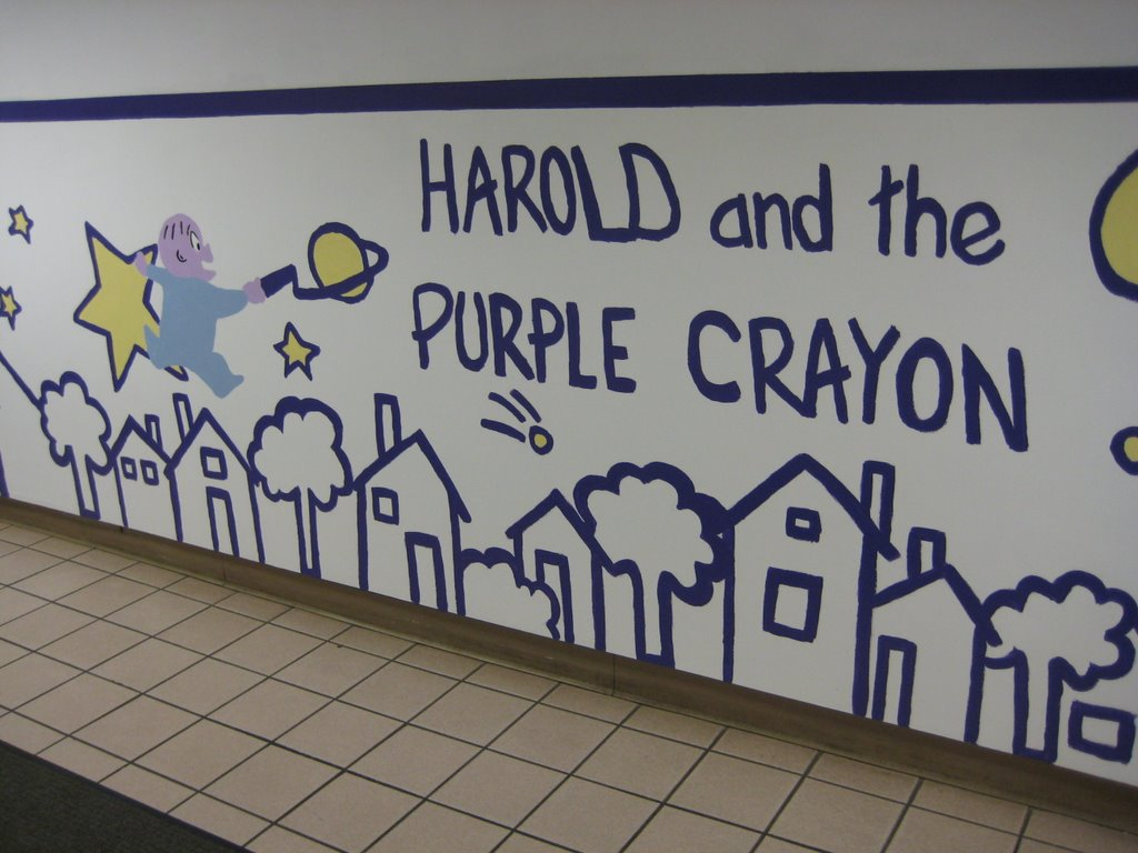 Harold mural at Ben Franklin School, Norwalk, Connecticut. Photo by Jackie Curtis.